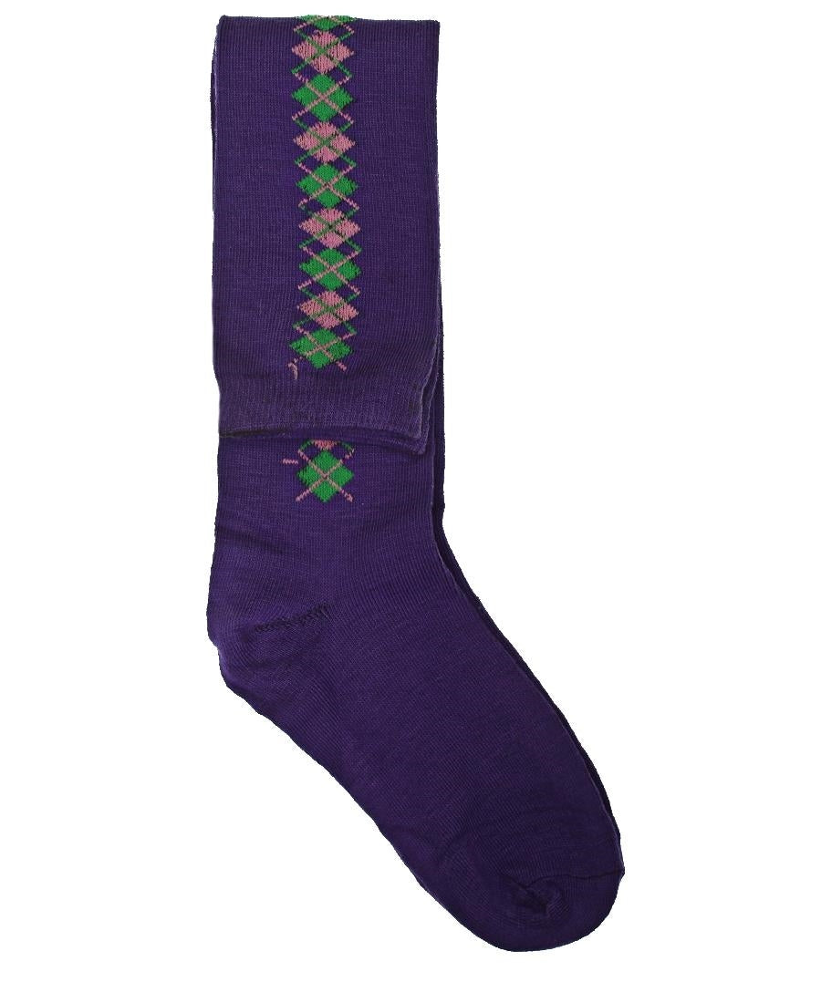 Below Knee Socks - Purple