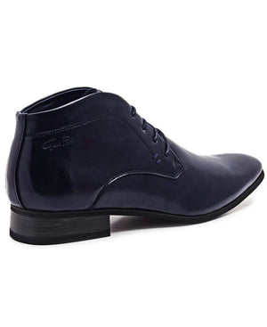 Lace Up Boots - Navy