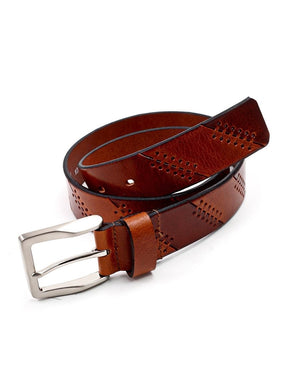 Moulded Leather Belt - Tan