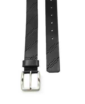 Moulded Leather Belt - Black