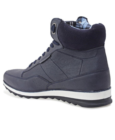 Lace Up Boot - Navy