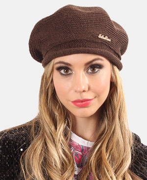 Knitted Beret - Choc