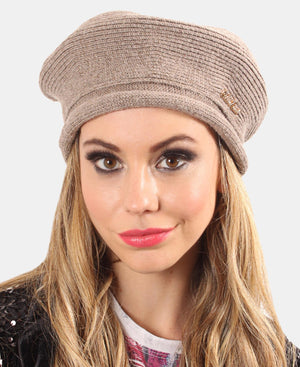 Knitted Beret - Taupe