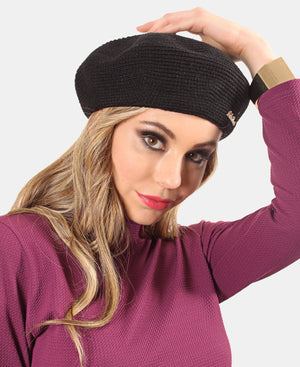Knitted Beret - Black