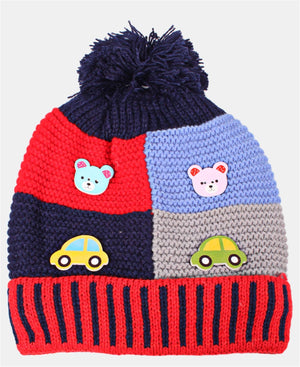 Kids Knitted Beanie - Red