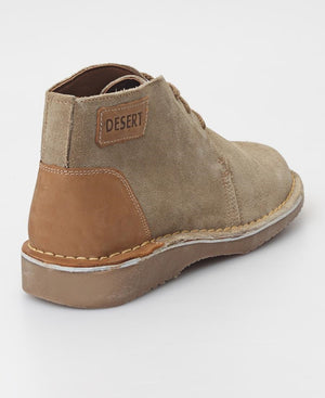 Men's Leather Boots - Taupe
