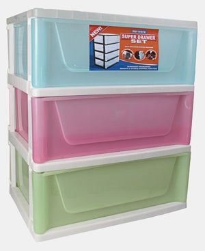 3 Tier Super Drawers - Multi