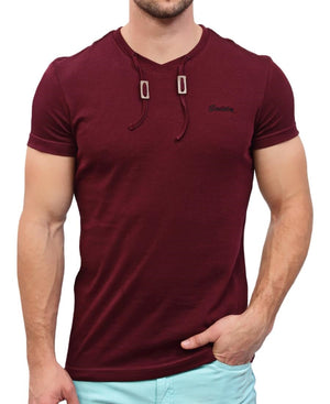 Hull Drawcord T-Shirt - Burgundy