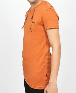 Hull Drawcord T-shirt - Caramel