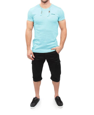 Hull Drawcord T-Shirt - Blue