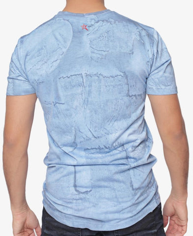 Printed T-Shirt - Light Blue