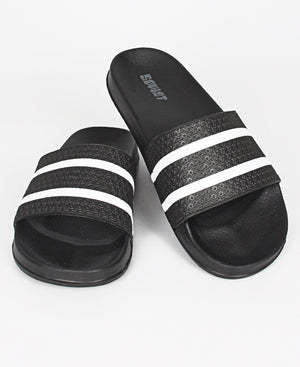 Men's Quest Sandals - Black-White