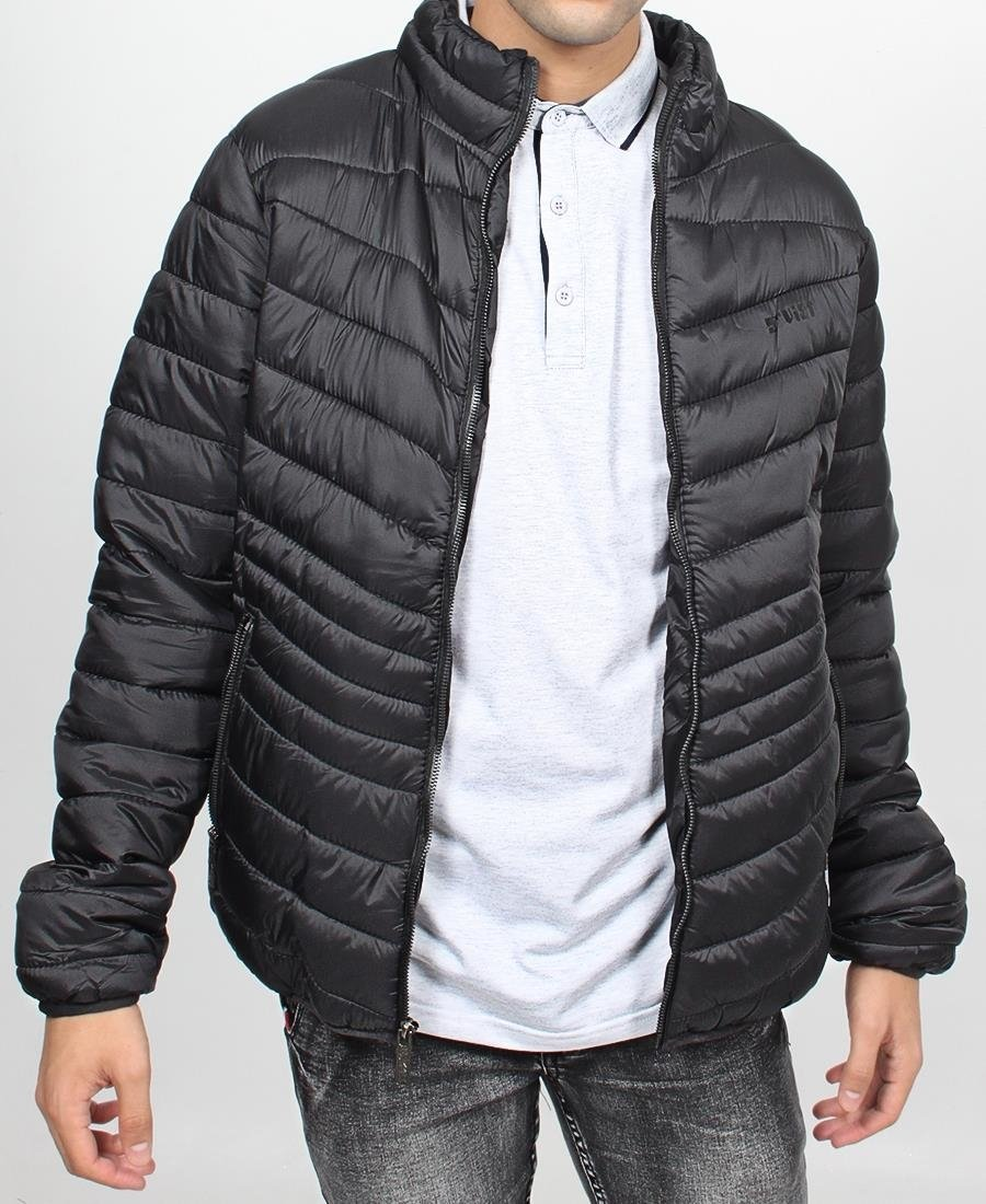 Men's Puffer Jacket - Black