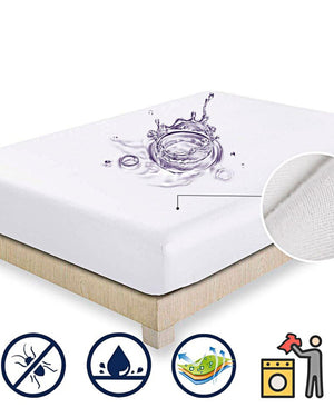 Horrockses Waterproof Towelling Mattress Protector - White