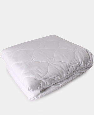 Tela Milano King Quilted Mattress Protector - White