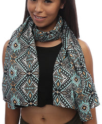 Ethnic Scarf - Blue