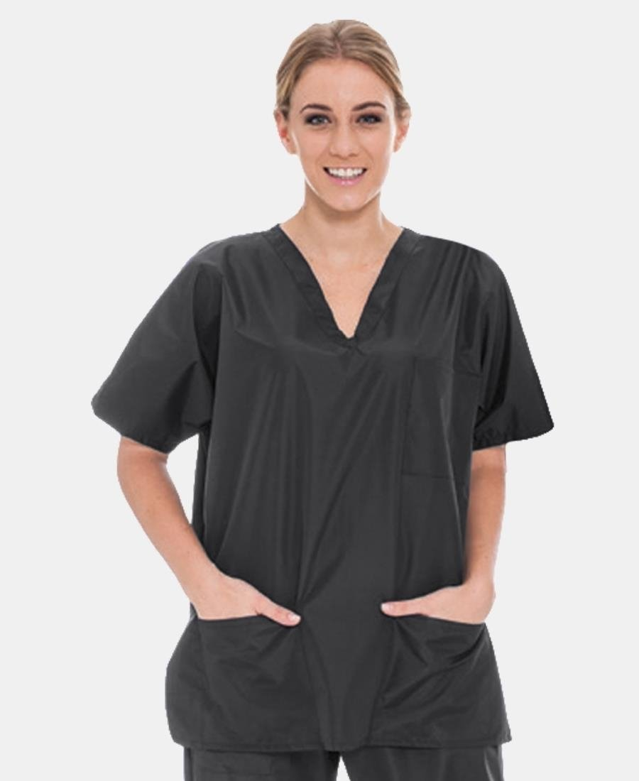 2 Piece Unisex Scrub Suit - Charcoal