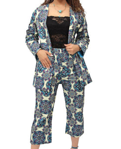 2 Piece Ethnic Suit - Blue
