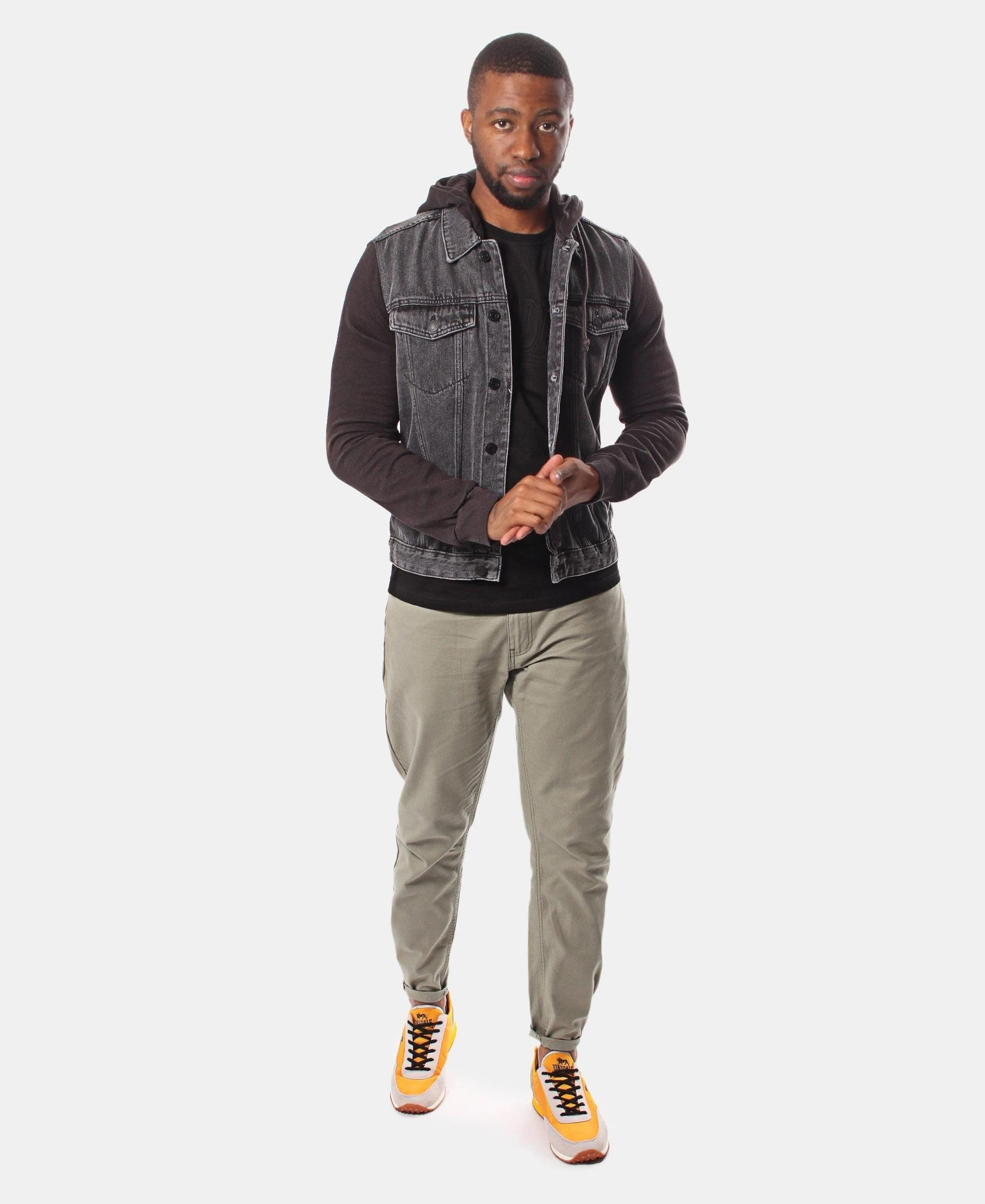 Men's Denim Hoody - Charcoal