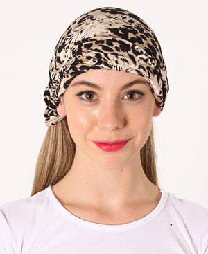 Neck Warmer - Black-Beige