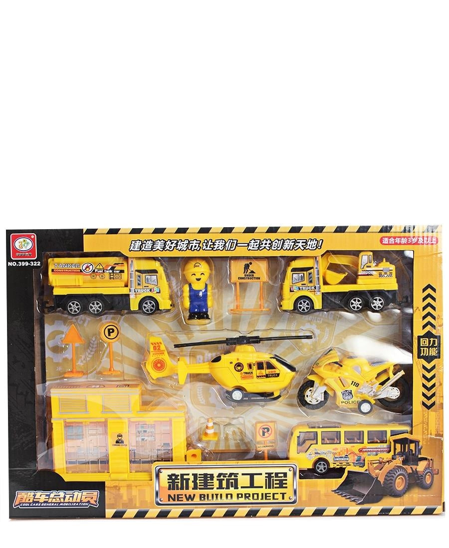 Kids Vehicle Construction Set - Yellow