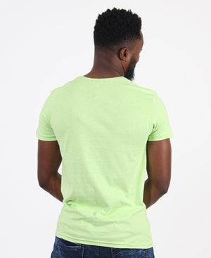 Crew Neck Graphic T-Shirt - Light Green