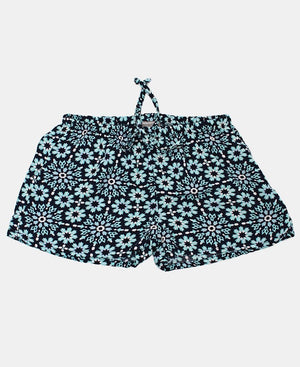 Girls Floral Shorts - Navy
