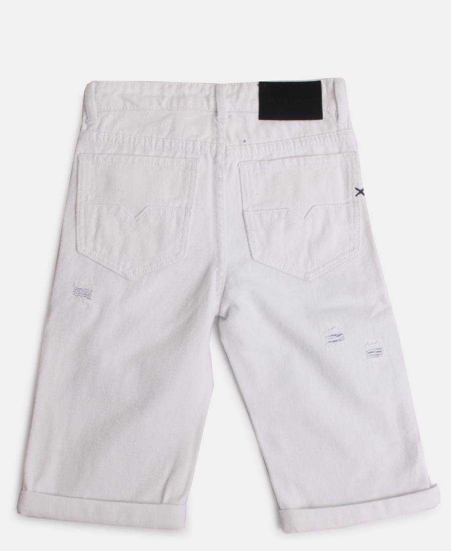 Boys Shorts - White