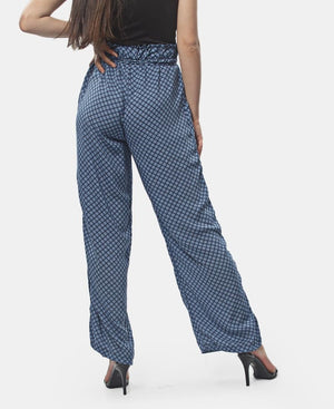 Paperbag Casual Pants - Blue
