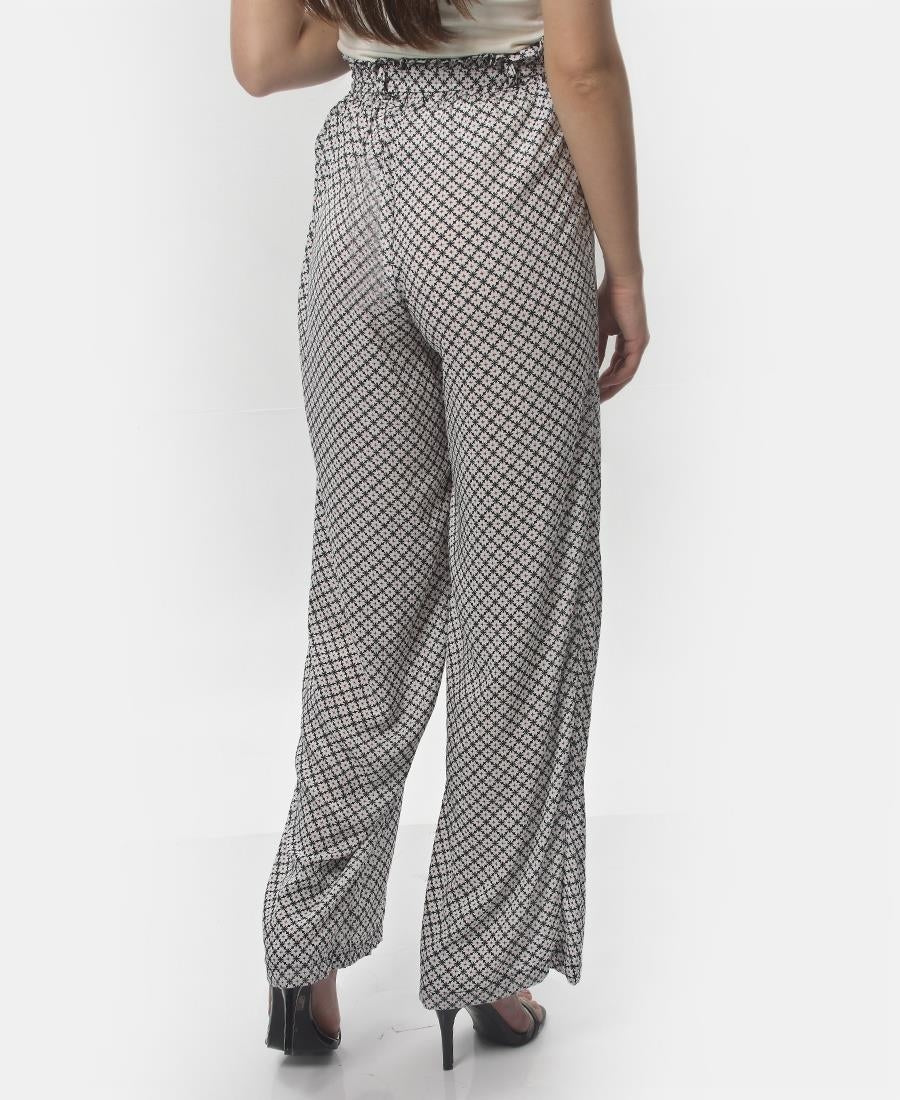 Paperbag Casual Pants - White