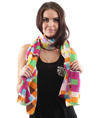 Ethnic Print Scarf - Yellow
