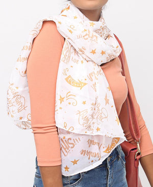 Casual Scarf - White