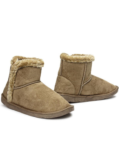 Fur Boots - Olive