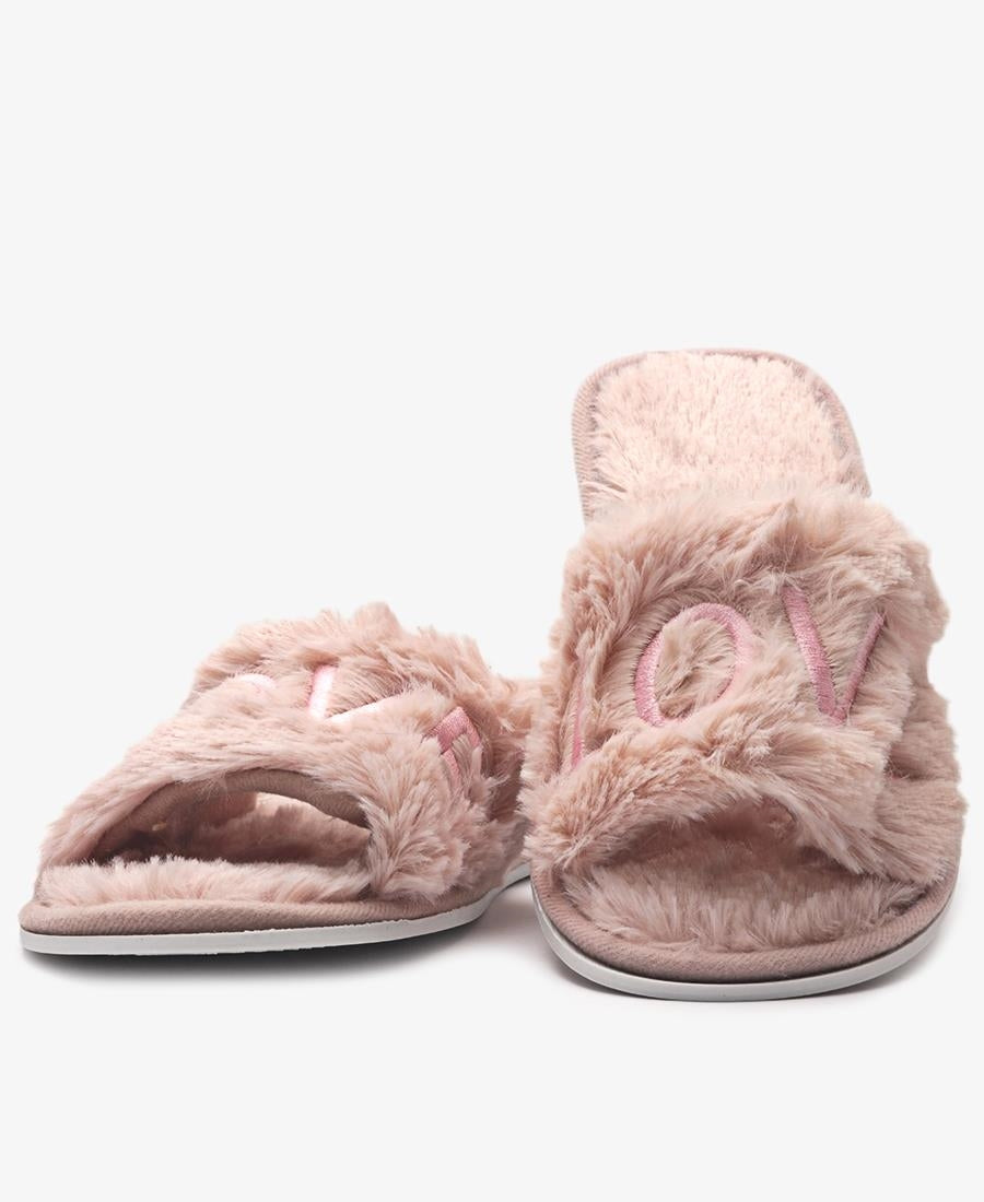Bedroom Fluff Slippers  - Mink