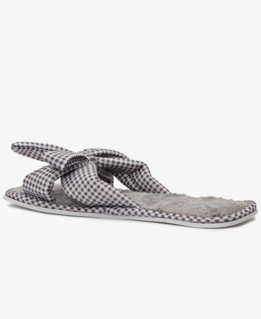 Bedroom Slippers - Grey-White