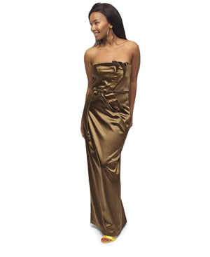 Boobtube Evening Dress  - Brown