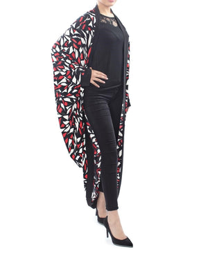 Abstract Print Throw - Red