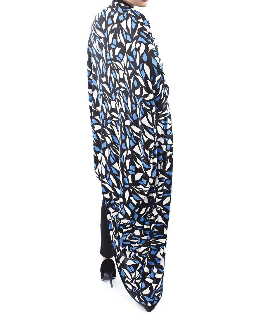 Abstract Print Throw - Blue