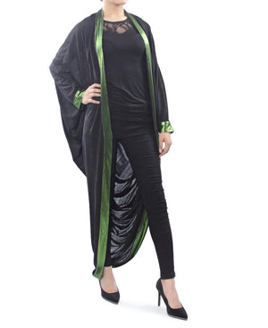 Black Throw - Green