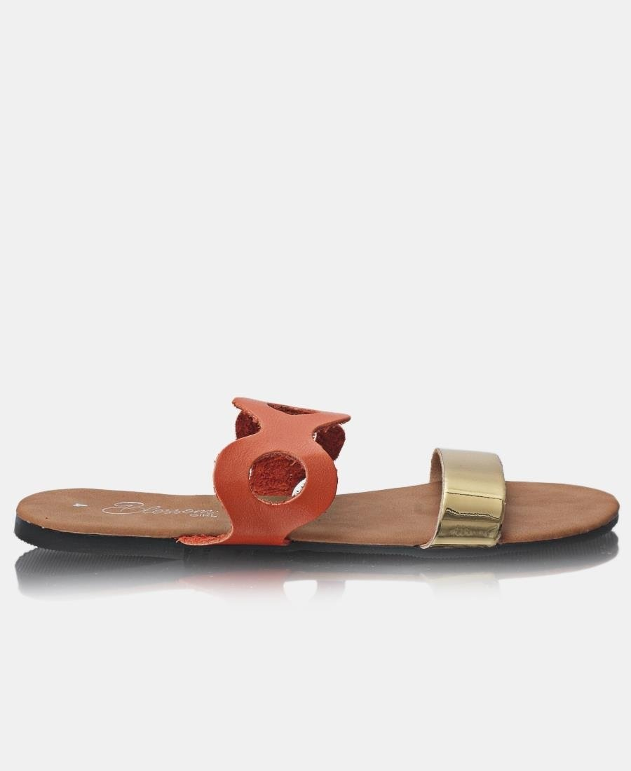 Slip On Sandals - Orange