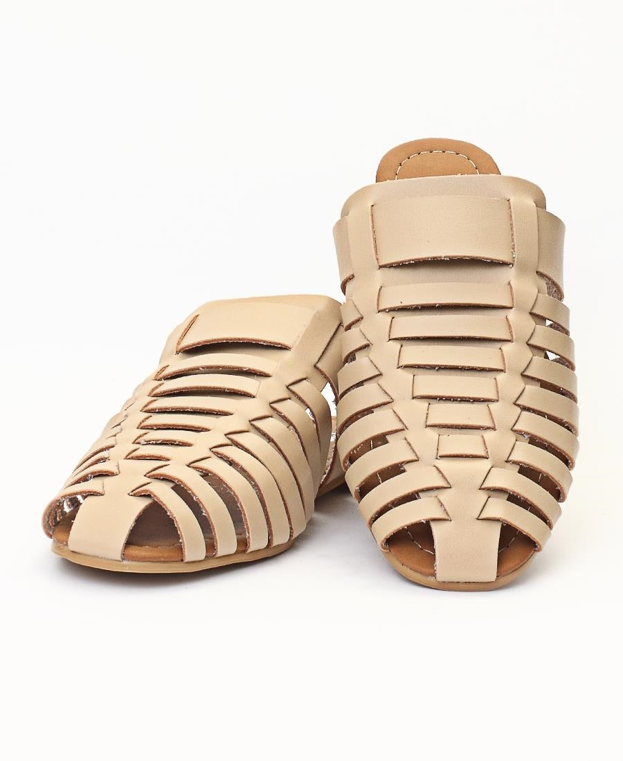 Slip On Sandals - Taupe