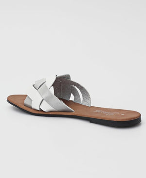 Slip On Sandals - White