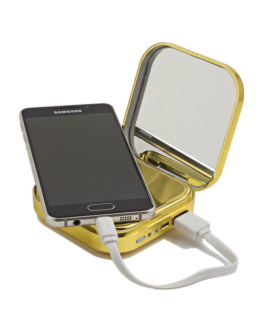 10400mAh Mirror Power Bank - Gold