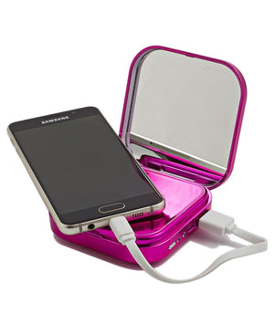10400mAh Mirror Power Bank - Pink