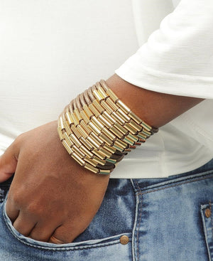 Magnetic Rope Bangle - Choc