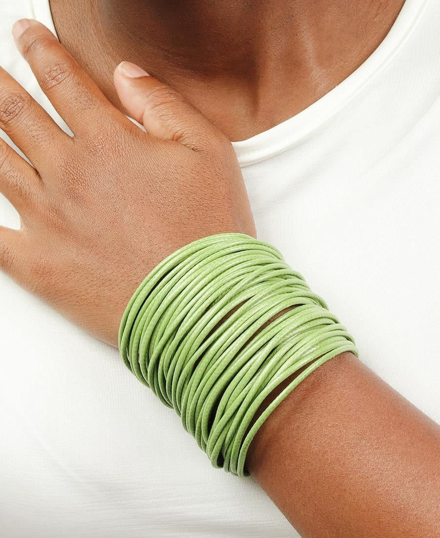 Magnetic Rope Bangle - Green