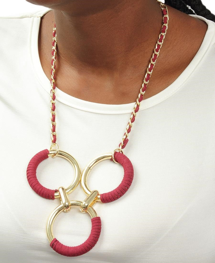 Ring Neckpiece - Burgundy
