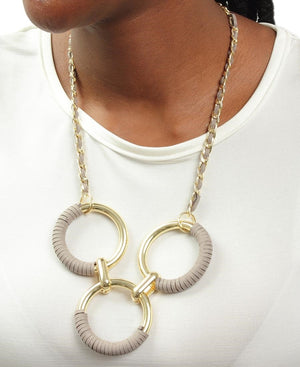 Ring Neckpiece - Grey