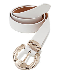 Ladies Belt  - White