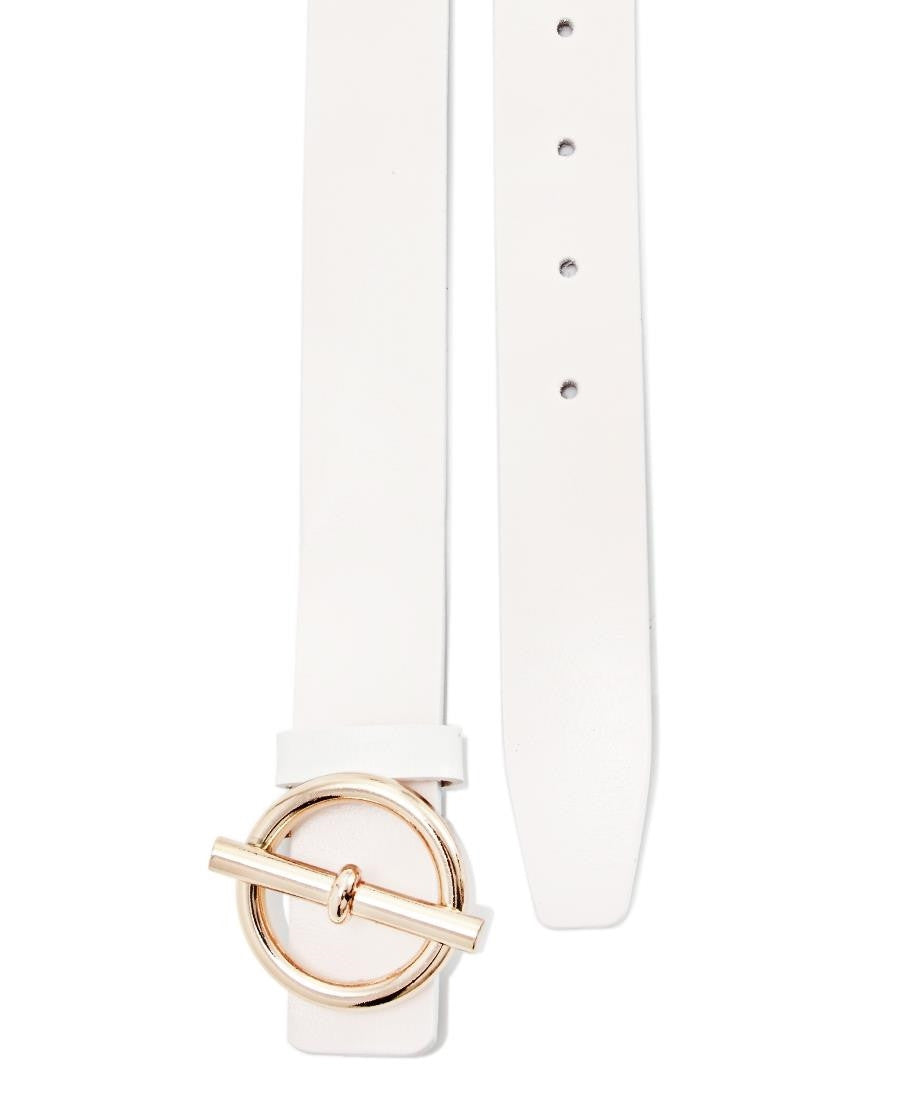 Genuine Leather Belt - White